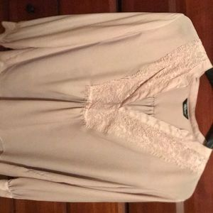 Loose Fitting Light Pink Blouse